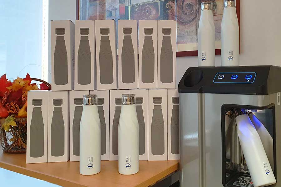 Borraccia Plastic Free e depuratore d'acqua da Corsi Z1